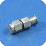 Stainless Female Luer, 1/4-28 Bulkhead to Barb Fitting